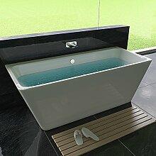 Freistehende Badewanne Weiß Badewanne 170 x 75 cm
