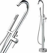 Freistehende Badewannen Armatur H02 120cm Wannenarmatur Wasserhahn Dusche Brause