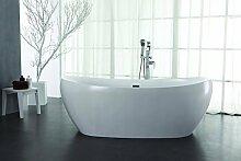Freistehende Design Badewanne aus Mineralguss