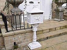 Freistehender Briefkasten, gegossen aluminimum -