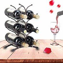Freistehender Weinregal,Hält Bis Zu 6 Flaschen