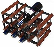 Freistehendes Weinregal aus Eichenholz für