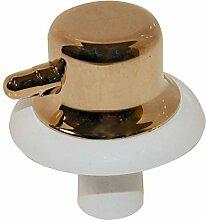 Freizeit evc5lw evc5W vc5new Echte Temperatur Einstellknopf für Ofen Grill Herd (weiß/gold)