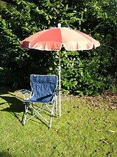 Freizeit-Faltstuhl mit Sonnenschirm terra 150 cm +
