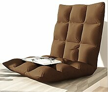 Freizeit Möbel faul Sofa / Kissen einzigen Klappstuhl, Bett Stuhl, schwimmende Fenster Stuhl, faul Sofa Stuhl (Dieses Produkt nur Sofa) ( Farbe : Braun , größe : 78*40*10CM )