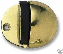 Frelan JV86PB Messing poliert oval Hooded Bodenmontage Türstopper, Gold