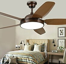 Frelt Kronleuchter Deckenventilator-Lampe Retro-Wohnzimmer-Restaurant-Ventilator-Licht Industrieller Wind-einfacher Ventilator-Ventilator Mit LED-Deckenventilator ( Farbe : Weiß )