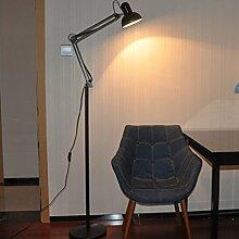 Frelt Stehlampe Lange Arm Stehlampe moderne minimalistisches Wohnzimmer Schlafzimmer der Stehlampe LED-Lese Arbei