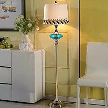Frelt Stehlampe Moderne Stehleuchte Wohnzimmer Boden Lampe Schlafzimmer Mittelmeer kreative Stehleuchte Mode einfache Nachttischlampe