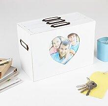 French weiß Herzform Foto Frame Box macht, eine schöne Geschenkidee für eine besondere 5. Hochzeitstag–h13.5X l19.5X w9.5cms Foto Größe 6X 4(Z295)