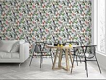 Fresco Amazon-Tapete tropische Blumen, mehrfarbig