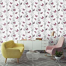 Fresco Flutterby Forest Floral Tapete, Rosa