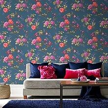 Fresco Orientalische Tapete, Blau