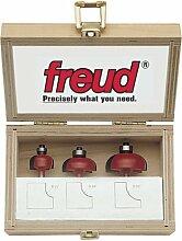 Freud 89-550 3-Piece Cove Router Bit Set by Freud