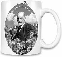 Freud Hipster Kaffee Becher