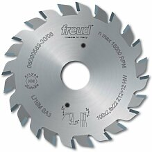 Freud LI16MAA3 120mm with 12+12 Tooth Design Carbide Tipped Adjustable Scoring Blade for Scoring Coating on Double-Sided Laminate Panels by Freud