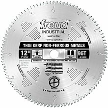 Freud LU77M012 12-Inch 96 Tooth TCG Thin Kerf Non-Ferrous Metal Cutting Saw Blade with 1-Inch Arbor by Freud