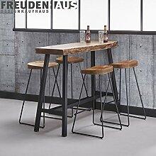 Freudenhaus Stehtisch Bartisch Set Wood Akazie