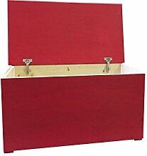 Freund Holz cli80ro Sitzbank mit Reißverschluss 80, Holz, Rot, 84x 44x 44cm