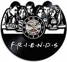 Freunde LED Vinyl Wanduhr Für Dekoration Und