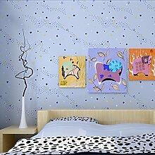 Freundliche Schlafzimmer Normalpapier Tapete Einfache Kinderzimmer Tapete-A