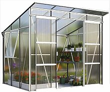 Freya 5900 Alu-Gewächshaus HKP 6 mm Treibhaus 5,9 m² Gartenhaus Pavillon