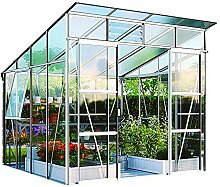 Freya 7600 Alu-Gewächshaus ESG 3 mm Treibhaus 7,6 m² Gartenhaus Pavillon