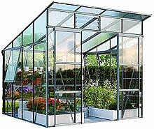 Freya 7600 Alu-Gewächshaus ESG 3 mm Treibhaus Anthrazit Gartenhaus Pavillon