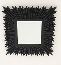 Frida Wandspiegel Cubic Sun Schwarz Quadrat Sonne