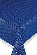 Friedola 20281 Gartentischdecke Rustikal, Design-Purism, 130 x 180 cm, dunkelblau