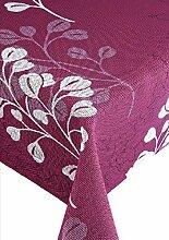 Friedola 25842 Gartentischdecke Capri, Design-Summer heart, 160 x 210 cm, berry-weiß