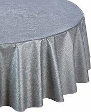 Friedola 44306 Tischdecke Trend Line, Design-Textura, 160 x 210 cm hrd., silber