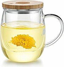 Friedos Tee Glas mit Sieb und Deckel 500 ml für