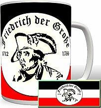 Friedrich der Große alter Fritz Kaiser Preußen 1712 1786 -Tasse Becher Kaffee #2325