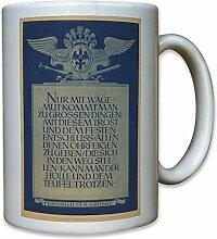 Friedrich der Große Zitat Wagemut - Tasse Kaffee