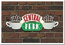 Friends Central Perk Sign auf Brick Wall Poster