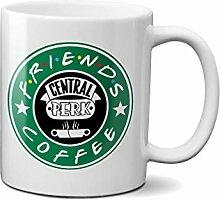 Friends Central Perk Starbucks Coffee Crazzy Kaffeetasse Tee Tasse Becher 312ml/11 Oz.Weiß Neuheit Komisch Kostenloser Versand
