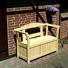 Friesenbank mit Kissenbox Holzbank Gartenbank