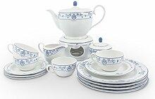 Friesland Tee-Service 16tlg Atlantis Friesisch Blau