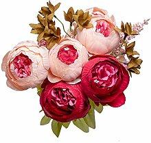 Frigocon Künstliche Rosen Blumen Blumenstrauß