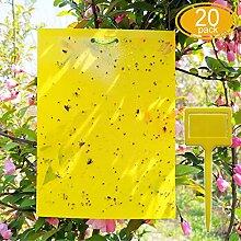 FRIMOONY 20 Stück Fliegenfalle Gelbsticker mit
