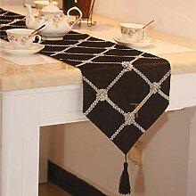 Fringe-Tischläufer, Silberne