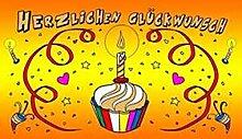 FRIP - Herzlichen Glückwunsch Geburtstag Kerze