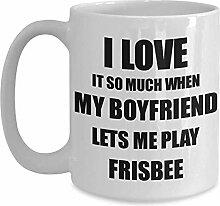Frisbee Mug Lustige Geschenkidee für Freundin Ich