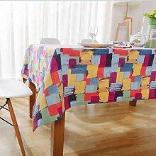 Frisch Mehrfarbige Gingham-Tischdecke, abwischbar,