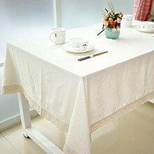 Frisch Tischdecken Natur Einfache Stil Spitze