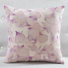 Frische chinesische Garten Kissen mehr Farben Baumwolle Mischung Sofa Gurtpolster Pflanzen auf Kissenbezüge-B 55x55cm(22x22inch)VersionB