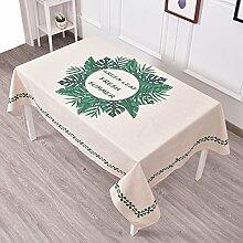 Frische Gartentischdecke,Tuch Leinen Runde Tisch Restaurant Rechteckige Tischdecke,Wohnzimmer Couchtisch Tv-schrank Staubdecke Tuch-L 100x140cm(39x55inch)
