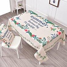 Frische Gartentischdecke,Tuch Leinen Runde Tisch Restaurant Rechteckige Tischdecke,Wohnzimmer Couchtisch Tv-schrank Staubdecke Tuch-K 140x200cm(55x79inch)