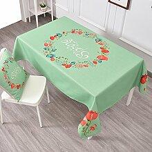 Frische Gartentischdecke,Tuch Leinen Runde Tisch Restaurant Rechteckige Tischdecke,Wohnzimmer Couchtisch Tv-schrank Staubdecke Tuch-A 140x200cm(55x79inch)